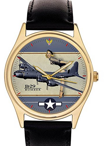 boeing-b29-superfortress-ww-ii-pinup-art-commemorative-usaaf-aviation-art-wrist-watch