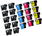 Virtual Outlet ® 22 Pack Compatible Inkjet Cartridges for Brother LC-61 LC61 LC 61 LC-61XL, LC-61BK LC-61C LC-61M LC-61Y High Yield Compatible with Brother DCP-165C, DCP-585CW, DCP-375CW, DCP-385CW, DCP-395CN, DCP-J125, MFC-290C, MFC-490CW, MFC-5490CN, MFC-5890CN, MFC-6490CW, MFC-790CW, MFC-990CW, MFC-255CW, MFC-495CW, MFC-795CW, MFC-295CN, MFC-250C, MFC-6890CDW, MFC-J615W, MFC-J415W, MFC-J265w, MFC-5895CW, MFC-J220, MFC-J270W, MFC-J410W, MFC-J630W (10 Black, 4 Cyan, 4 Magenta, 4 Yellow)