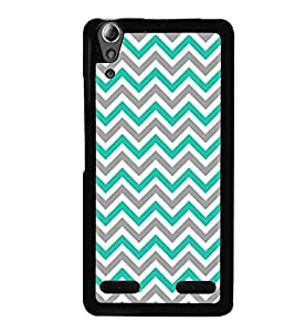 Fuson Premium Zig Zag Pattern Metal Printed with Hard Plastic Back Case Cover for Lenovo A6000
