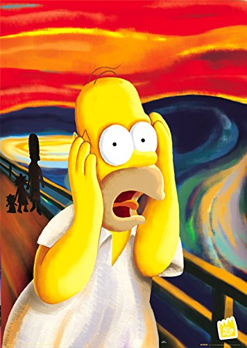 GB eye, The Simpsons, Scream, Maxi Poster, 61x91.5cm