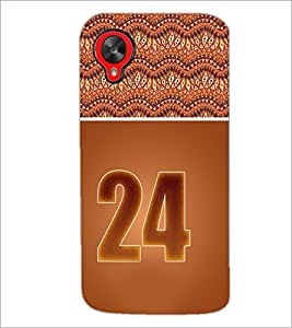 PrintDhaba Numerology Number 24 D-3659 Back Case Cover for LG GOOGLE NEXUS 5 (Multi-Coloured)
