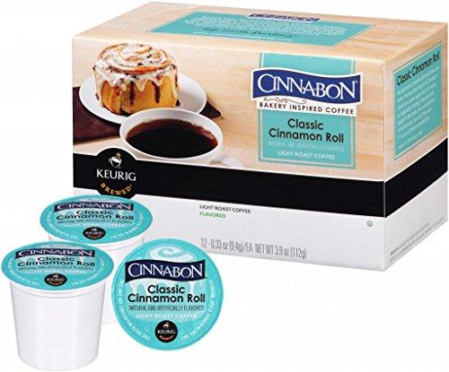 Green Mountain Coffee Roasters Gourmet Single Cup Coffee Classic Cinnamon Roll Cinnabon 12 K-Cups
