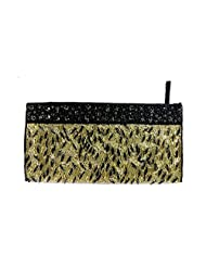 HOT SALE GOLDEN BLACK NOBLE ELEGANT WOMEN'S STYLISH EVENING PARTY PIPE BEADS BAG HANDMADE SHINY SEQUINS