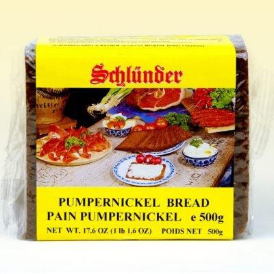 Schlunder German Pumpernickel Bread 500g (2-pack) (German Dark Bread compare prices)