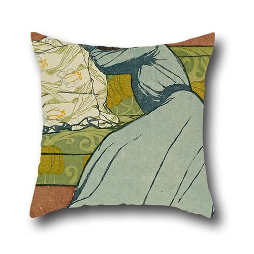 Oil Painting Max Kurzweil - The Cushion (Der Polster ) Cushion Cases 16 X 16 Inch / 40 By 40 Cm Best Choice For Drawing Room,festival,dining Room,home,bf,chair With Each Side