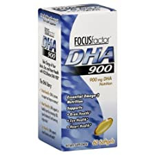 FocusFactor DHA, 900 mg, Softgels, 60 ct.