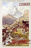 Poster Print entitled Swiss Alps, Zermatt, Matterhorn, Vintage Poster, by Anton Reckziegel