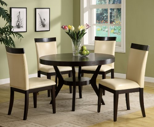 Furniture of America Galore Round Dining Table, Espresso toys galore