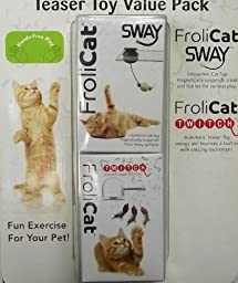 Frolicat Cat Teaser Toy Value Pack Includes SWAY And TWITCH 00181