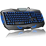 Superbpag 104 Keys Blue Led Backlit Illuminated USB Wired Gaming Keyboard With 19 Anti Ghosting Key For Mac And...