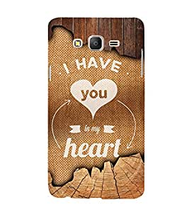 You Are My Heart 3D Hard Polycarbonate Designer Back Case Cover for Samsung Galaxy On7 :: Samsung Galaxy On 7 G600FY