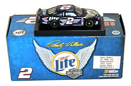 Harley Davidson Rusty Wallace #2 Miller Lite / 1999 1/64 Action Taurus Stock Car (Diecast Chevy Truck 1989 compare prices)