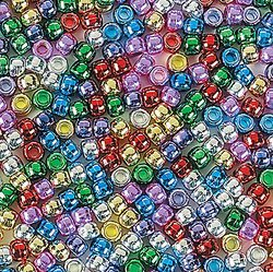 Shiny Pony Beads (2000 beads) - Bulk