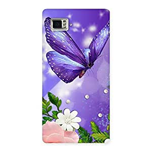 Special Voilate Butterfly Back Case Cover for Vibe Z2 Pro K920