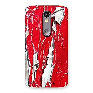 Ajay Enterprise Elite Red Ripped Paint Print Back Case Cover for Moto X Force