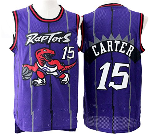 Men's Adult #15 Vince Carter Jersey Purple S Personalized Cheer Shorts