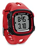 GARMIN Forerunner 15 Running Watch Bundle, Red/Black