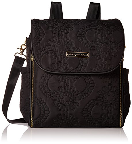 Petunia Pickle Bottom Boxy Backpack in Central Park Stop Special Edition, Black/Gold