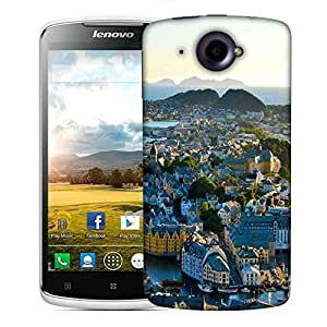 Snoogg Many Houses Designer Protective Phone Back Case Cover For Lenovo S920