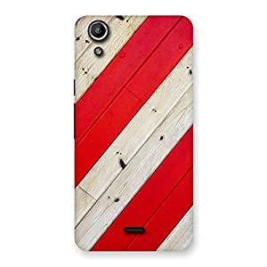Red Woodish Pattern Back Case Cover for Micromax Canvas Selfie Lens Q345