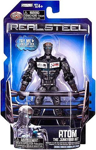 Real Steel Wave 1 Action Figure Atom The Junkyard Bot Lights Up