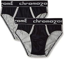 Chromozome Men's Cotton Brief (Pack of 2) (8902733317597_BC03_2pcuvnvy_XL)