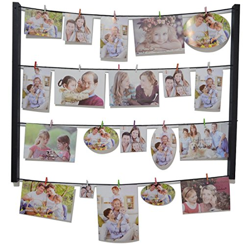 Giftgarden cornice per foto da parete multifoto diy wall decor strange things - Cornici da parete per foto ...