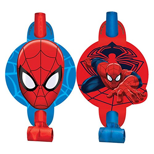 "Spiderman 5"" Blowouts (8 Pack) - Party Supplies"