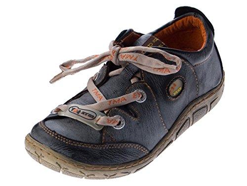 Damen Leder Halb Schuhe Comfort Sneakers Schwarz Used Look Turnschuhe TMA Eyes Gr. 36