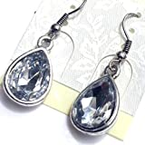 SV23 Clear Crystal Drop Earrings For Women