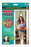 PackNBUY BLACK Magic Mesh Screen Door Net with magnets Anti Insects Mosquito Flies Bugs Curtain