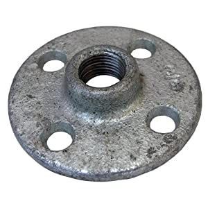 Lasco 17 9585 3 8 inch female pipe thread galvanized floor for 1 inch galvanized floor flange