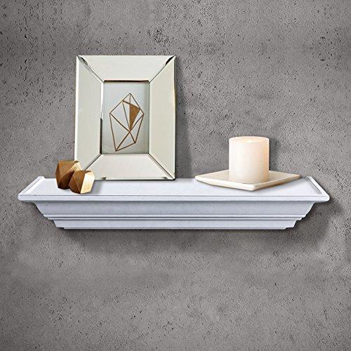 Shelving solution level line wall shelf white home for Wall shelves and ledges