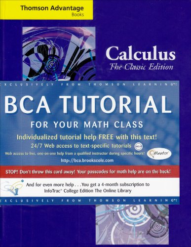 Cengage Adhvance Books: Calculus: The Classic Edition...