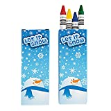 Let It Snow Crayons ~ 6 Boxes / 4 Crayons Per Box / 24 Crayons Total ~ Stocking stuffer