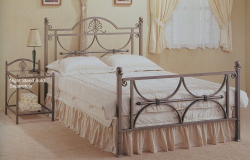 Eastern King Size Bronze Finish Metal Bed Headboard and Footboard