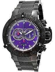 Invicta 10196 Men's Subaqua NOMA Black Ion Plated Purple Dial Chronograph Watch