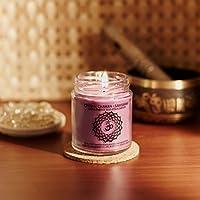 Resonance Meditation Candles - Crown Chakra Natural Wax Medium Jar Candle
