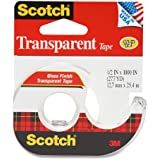 3M Transparent Tape with Dispenser, 1/2 Inch x 1000 Inches (174)