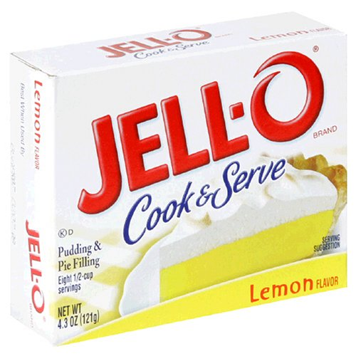 Buy Jell-O Cook & Serve Pudding & Pie Filling, Lemon, 4.3-Ounce Boxes (Pack of 24) (JELL-O, Health & Personal Care, Products, Food & Snacks, Baking Supplies, Pie & Cobbler Fillings)