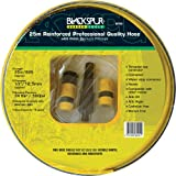 Blackspur fessional Quality Hose Pipe with Fittings 25m x 1/2
