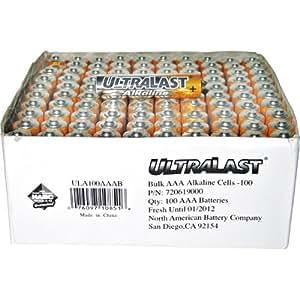 Amazon.com: UltraLast Alkaline ULA100AAAB AAA Batteries
