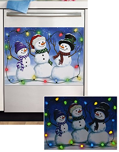 Glow In The Dark Snowman Dishwasher Magnet (Dishwasher Magnetic Covers compare prices)