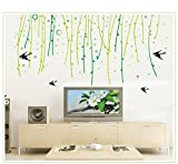Asmi collection PVC Wall Stickers Wall Decals Tree Branches Birds