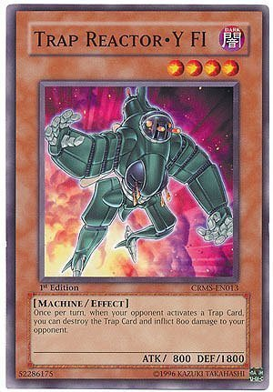Yu-Gi-Oh! - Trap Reactor-Y FI (CRMS-EN013) - Crimson Crisis - 1st Edition - Common by Yu-Gi-Oh!
