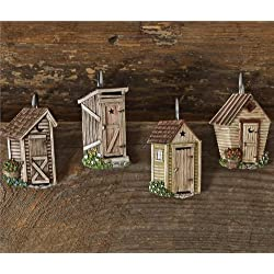 Outhouse Shower Curtain Hook Set Of 12
