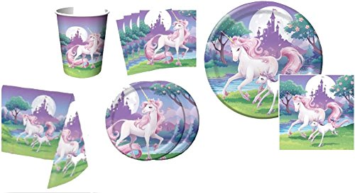 Unicorn-Tableware-Party-Pack-Party-Pack-for-8-Party-SuppliesTableclothNapkinsTableware