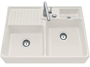 Villeroy & Boch Double Stone Wash Basin Sink Ceramic Sink Top Beige Crema