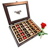 Valentine Chocholik's Belgium Chocolates - Best Hits Collection Chocolates With Red Rose