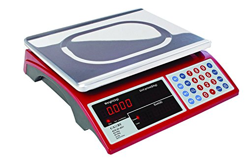 Camry Digital Commercial Price Scale 33lb / 15kg for Food Meat Fruit Produce with Dual Bright Red LED Display 15 Inches Platform Rechargeable Battery Included (Industrial Food Scale compare prices)